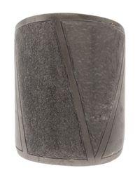 Delphine Charlotte Parmentier - Metallic Ruthenium Geometric Ring - Lyst