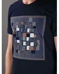 Fendi - Blue Geometric Print Tshirt for Men - Lyst