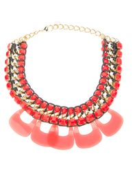 Marina Fossati - Orange Beaded Statement Necklace - Lyst
