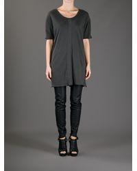 Silent - Damir Doma - Gray Torp Long Fit T-Shirt - Lyst