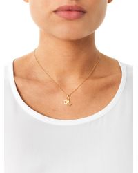 Aamaya By Priyanka | Metallic Heart and Anchor Gold-Plated Necklace | Lyst