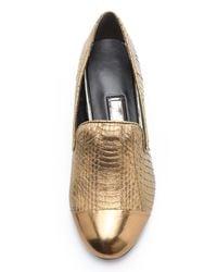 Boutique 9 | Metallic Yaasuo Cap Toe Loafers | Lyst