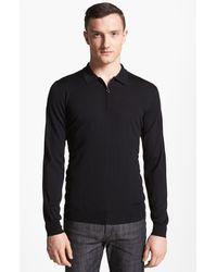 Ferragamo   Black Half Zip Polo Sweater for Men   Lyst
