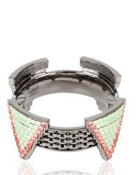 Mawi | Metallic Deco Glam Triangle Cuff | Lyst