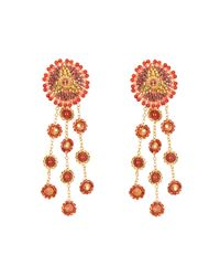 Nicole Miller - Miguel Ases Sahara Orange Earrings - Lyst