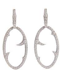 Stephen Webster | White Diamond 'oval Thorn' Earrings | Lyst