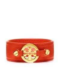 Tory Burch | Orange Skinny Double Snap Bracelet | Lyst