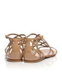 0ffbdef2b900e Lyst - Tory Burch Amalie Patent Leather Sandal in Brown