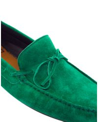 ASOS Green Driving Shoes in Suede for men