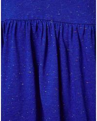 ASOS | Blue Smock Dress In Nepi | Lyst