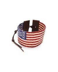 Chan Luu | Red American Flag Bracelet | Lyst