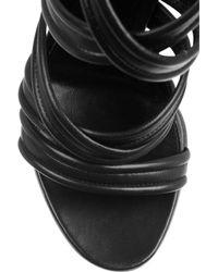 Gianvito Rossi - Black Leather Gladiator Knee Sandals - Lyst