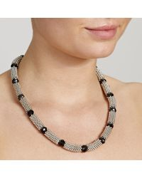 John Lewis | Black Rhodium Plated Beads Glass Necklace | Lyst