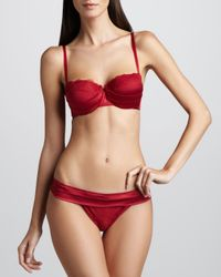 La Perla | Womens Lipstick Fever Demi Bra Red | Lyst