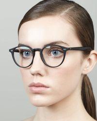 Oliver Peoples - Elins Round Fashion Glasses Matte Black - Lyst