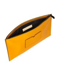 Reed Krakoff - Yellow Atlantique Leather Pouch - Lyst