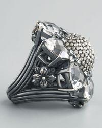 Stephen Dweck - Metallic Silver Citrine And Diamond Flower Ring - Lyst