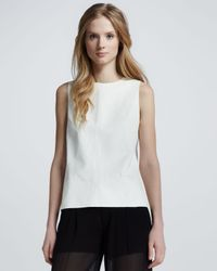 Vince | White Leather Sheerback Top | Lyst