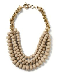 Banana Republic - Natural Bold Bead Necklace - Lyst
