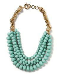 Banana Republic - Green Bold Bead Necklace - Lyst