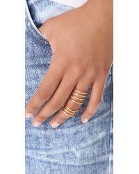 Elizabeth and James - Metallic Berlin Topaz Knuckle Ring Gold - Lyst