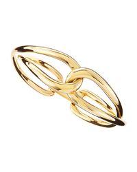 Michael Kors - Metallic Golden Twist Bangle - Lyst