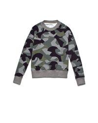 Theory | Black Toff Camo Knit Sweatshirt | Lyst