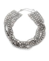 ABS By Allen Schwartz | Metallic Multi-strand Sparkle Necklace | Lyst
