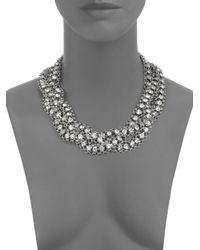 ABS By Allen Schwartz - Metallic Multi-strand Sparkle Necklace - Lyst