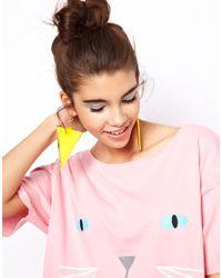 ASOS - Yellow Swing Triangle Earrings - Lyst