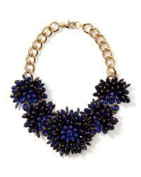 Banana Republic - Metallic Dahlia Bouquet Necklace - Lyst