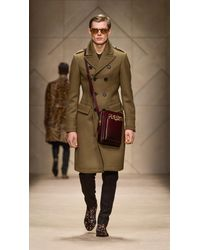 Burberry - Natural Felted Cavalry Twill Greatcoat - Lyst