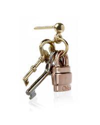 Chloé | Pink Paddington Keys Earrings | Lyst