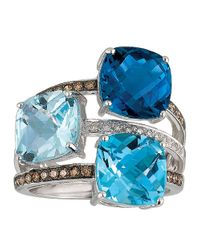 Le Vian | Blue White Topaz And Chocolate Quartz Ring (2-3/4 Ct. T.w.) In 14k White Gold | Lyst