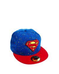 Lyst - KTZ 59fifty Cap Superman in Blue for Men 39360d2eb7fe