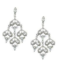 Nina - Metallic Gerbera Crystal Chandelier Earrings - Lyst