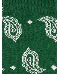 TOPMAN - Green Paisley Socks for Men - Lyst