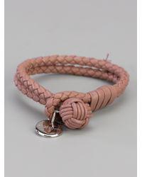 Bottega Veneta - Brown Braided Bracelet for Men - Lyst