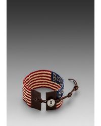 Chan Luu | American Flag Bracelet in Red | Lyst