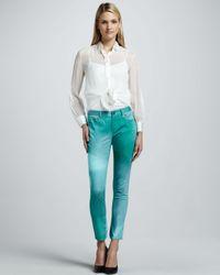 Elie Tahari - Green Farrell Printed Jeans - Lyst