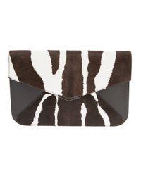 Fendi - Brown Envelope Clutch - Lyst