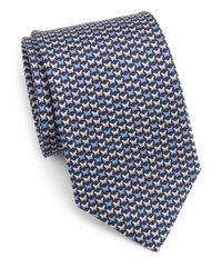 Ferragamo | Blue Oriente Butterfly Print Silk Tie for Men | Lyst