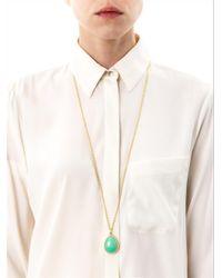 Irene Neuwirth - Green Diamond Cabochon Chrysoprase Necklace - Lyst