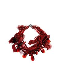 Peachoo + Krejberg - Red Necklaces - Lyst