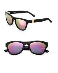 Westward Leaning - Black Color Revolutions Acetate Square Sunglasses/Neon Pink - Lyst