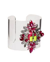 ASOS | Multicolor Jewel Perspex Cuff Bracelet | Lyst