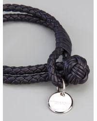 Bottega Veneta | Metallic Braided Leather Bracelet | Lyst