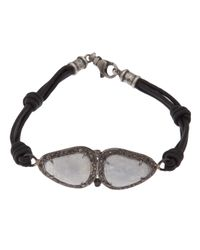Rask Jewelry - White Double Moonstone Bracelet - Lyst
