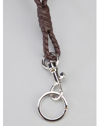 Bottega Veneta | Brown Woven Dog Clip Necklace | Lyst