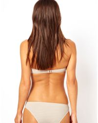 River Island - Natural Beige Dakota Zip Bikini Brief - Lyst